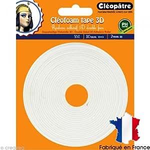 Cléopâtre SCRAP-RM2X5 Cléofoam Tape 3D Rouleau Adhésif Double Face Colle Transparent 20 x 15 x 11 cm