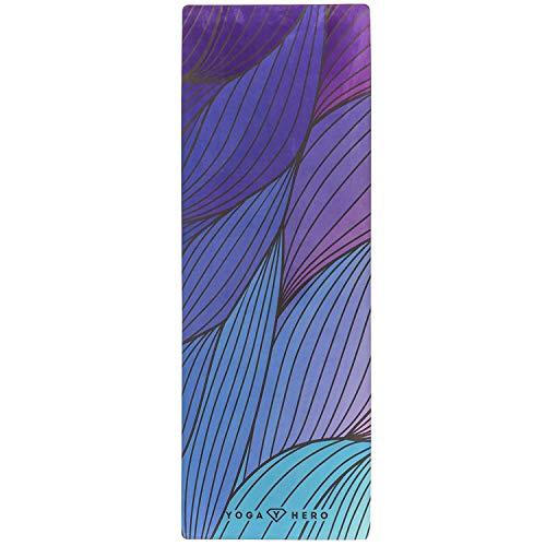 Yoga Hero Yogamatte 3.5mm Matte | Yogatuch Combo | Handtuch | Schweiß-rutschfest, Umweltfreundlich Naturkautschuk | Perfekt für Hot Yoga, Bikram, Ashtanga, Pilates, Fitness und HIIT (Shira)