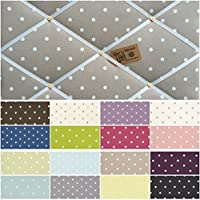 Custom Handmade Pin/memo/Notice/Photo Cork memo board Clarke & Clarke Dotty Spot Fabric Choice of Colours and Sizes