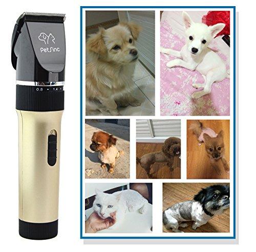 Keramik Tierschermaschine für Katze, Hund, Haustier (13 in 1) – Profi Elektrische Hundeschermaschine für Grooming – Haustiere Haarschneidemaschine – Geringes Rauschen, Hohe Kapazität Akku, PetSinc - 6