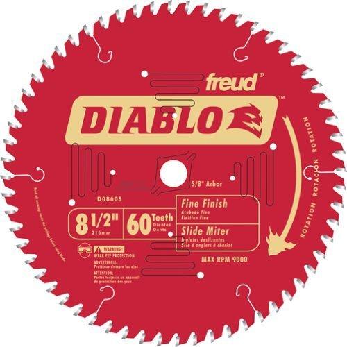 Freud D0860S Diablo Gehrungssägeblätter 60T Feinschliff, 20,5 cm