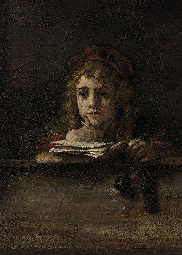 rembrandt-titus-a-son-pupitre-environ-1665-sur-format-a3-papiers-brillants-de-250g-affiches-de-repro