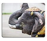 Mauspads Antike Elefant Keramik Kunst Figur von Mat Customized Desktop Laptop Gaming Mauspad (Mauspad/Gaming Mauspad)