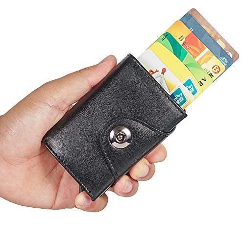24e27fd5da Porta Carte di Credito da Uomo, MOCOCITO Portafoglio per Carte di Credito e  Banconote con ...
