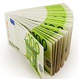 Monsterzeug Geldbündel 100 Euro, Fake Kohle, Falsche Scheine, Money, Spielgeld, Scherzartikel, Grün