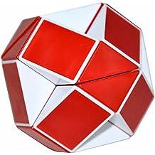 Serpiente Mágica Gobernante Torcedura Puzzle Cubo, LSMY Toy Blanco/Rojo