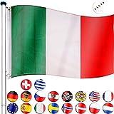 FLAGMASTER® Aluminium Fahnenmast 6,5m + Flagge, 5fach höhenverstellbar, 3...