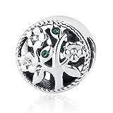Abalorio para pulsera Pandora, de plata de ley, diseño del árbol de la vida