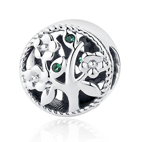 Abalorio para pulsera Pandora, de plata de ley, diseño del árbol de...