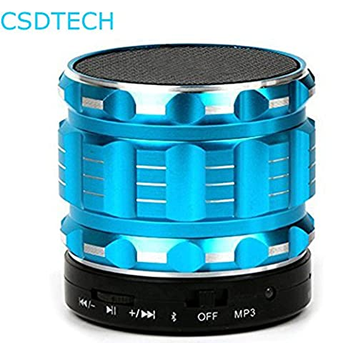 Mini Bluetooth Speakers, Portable Metal Wireless Hands Free Speaker SD Card Music Player For Phone PC Laptop
