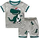 Kleinkind Jungen Schlafanzug, Kinder PJ-Sets, Jungen 100% Baumwolle langärmelige Nachtwäsche in Größen von 12-24 Monaten bis 7 Jahren (Fußball, 6 Jahren / 120cm Gross)