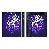 Disagu SF-sdi-3372_913 Design Folie für Sony PS3 stehend und Controller Motiv Leuchtende Notenschlüssel klar
