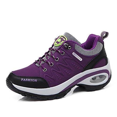 Suetar Damen Casual Sportschuhe Ladies Fashion Trekking Schuhe All Season Leichte und Rutschfeste Outdoor-Schuhe Womens Tennis-schuhe Braun