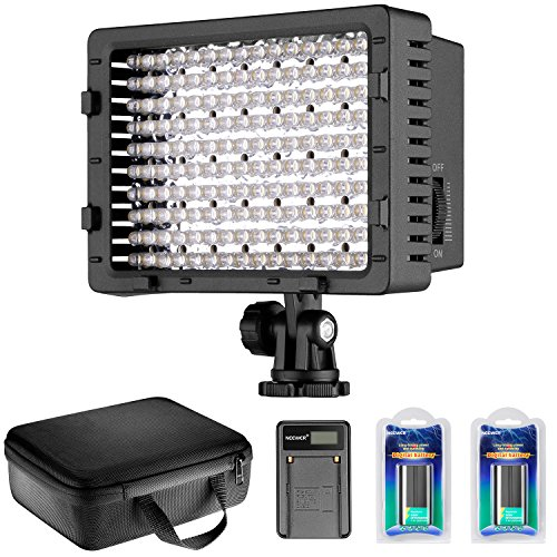 Neewer CN-160 | Panel LED Luz de Vídeo Regulable Ultra Alta Potencia...