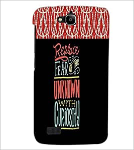 PrintDhaba Quote D-2680 Back Case Cover for HUAWEI HONOR HOLLY (Multi-Coloured)