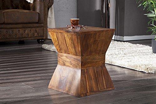 Invicta interior pyramid tavolino a sgabello in legno massiccio