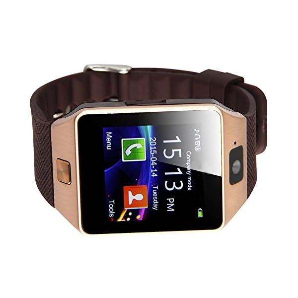 reloj de telefono elegante - TOOGOO(R) DZ09 Reloj de telefono inteligente de Bluetooth para telefono inteligente de Samsung iphone HTC Android con camara de telefono SIM oro 3
