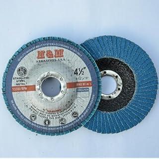 10pcs Premium FLAP DISCS 4-1/2 x 7/8 Zirconia 40 grit Grinding Wheel - Type 27 by H&M ABRASIVES-USA
