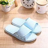 Qsy shoe Hausschuhe in Candy-Farbe für Zuhause Rutschfeste Kunststoff-Hausschuhe für Badezimmer, Himmelblau, 38-39