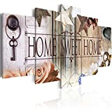 murando - Bilder 200x100 cm - Vlies Leinwandbild - 5 tlg - Kunstdruck - modern - Wandbilder XXL - Wanddekoration - Design - Wand Bild - Home Blumen 020115-71