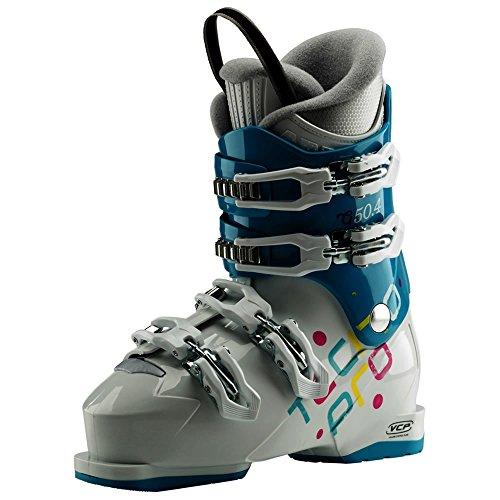 TECNOPRO Chaussures de Ski G50-4, AQUABLEU/White, 24 Mixte Enfant, Aqua Bleu/Blanc