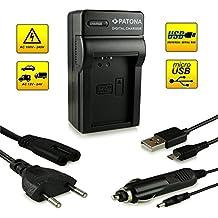 ¡Novedad! – El primero cargador de batería con conexión micro USB · adecuado para la batería LP-E12 para Canon EOS 100D | EOS M | EOS Rebel SL1 y mucho más…