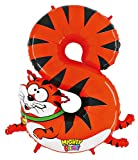 GRABO Betallic 14948 - Zooloon Folienballon Zahl 8 Katze, 40 inch, 1.0 m