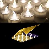 AGPtek 60 pz batteria operato senza fiamma LED Tealights candele