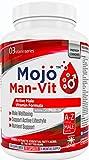MOJO  MAN-VIT - Supplemento multivitaminico giornaliero per uomo | Formula potente con Vitamina A C D E B1 B2 B3 B5 B6 B12, L-Glutammina, Zinco, Ferro, Biotina, Magnesio, Potassio + molte altre | 120 capsule + Garanzia soddisfattio rimborsati