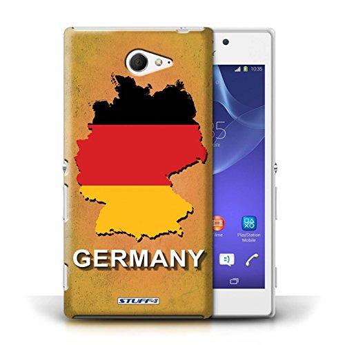 Kobalt® Imprimé Etui / Coque pour Sony Xperia M2 / Amérique/Américain/USA conception / Série Drapeau Pays Allemagne/Allemand