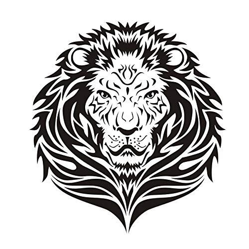 Weaeo Wandsticker Lion Head Wandaufkleber Lion Kunstwand Vinyl Wohnzimmer  Afrikanischen Dschungel Tiere Safari Wasserdichte Wandtattoos Dekor