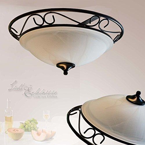 interior-led-energy-saving-ceiling-light-2-x-12-watt-ceiling-light-rustic-country-style-2-x-e27-bulb