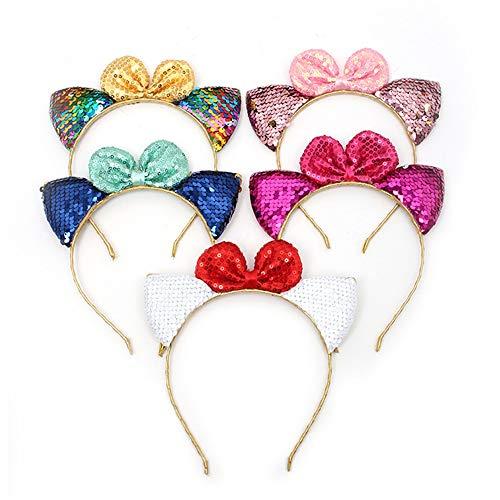 Zhou Yunshan Pailletten Haarschmuck Baby Katze Ohren Form Kinder Stirnband Urlaub Kleid Stirnband. Boutique