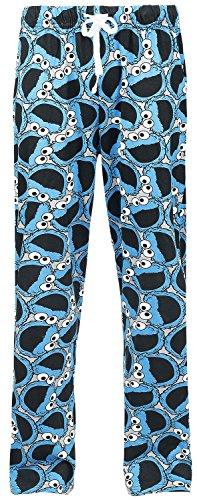 Sesamstraße Cookie Monster Pyjama-Hose multicolour - Monster-pyjama Herren-cookie