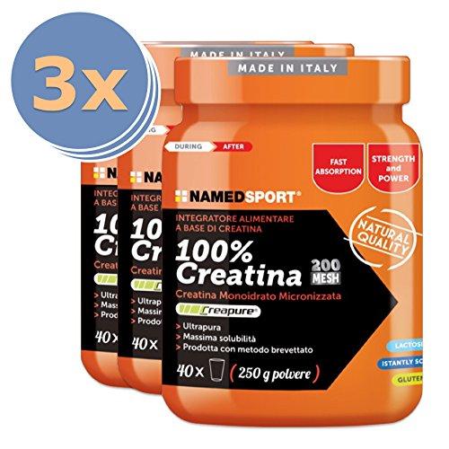 NAMEDSPORT 3x 100% Creatina Creapure in polvere (250g) - 51UucxiTYqL