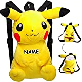 alles-meine GmbH Großer XL _ 3-D Effekt _ Rucksack & Kuscheltier -  Pokémon Pikachu  - inkl. ..