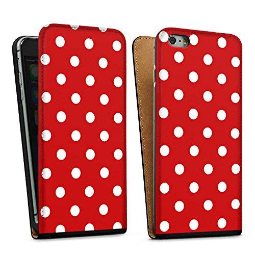 Apple iPhone 5s Housse Étui Protection Coque Points Rockabilly Robe Sac Downflip noir