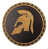 Spielzeugmanufaktur VAH 995 Holzschild, Sparta (schwarz/Gold), Rund