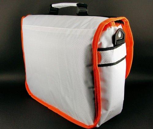 New Cool White & Hot Orange Trims Messenger Case Bag for Google Nexus 10 Tablet