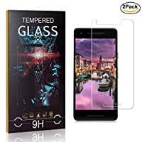MoKiin Tempered Glass Screen Protector for Google Pixel 2, Anti Fingerprint, 9H Hardness Tempered Glass, Bubble Free Screen Protector Film, 2 Pack
