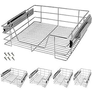 tiroir t lescopique rangement etag re armoire cuisine. Black Bedroom Furniture Sets. Home Design Ideas