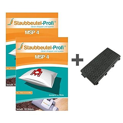 20 Staubsaugerbeutel + 1 HEPA-Filter für Miele Complete C3 Comfort EcoLine Plus von