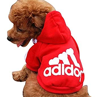 Manteau / Vêtement Hoodie pour chien Pet Coat (S, ROUGE)