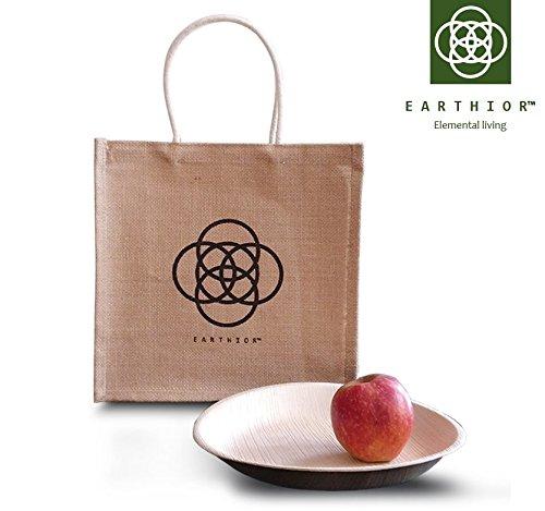 """Set von 20 runden 9"""" Eco Einweg Vorspeisenplatten, wiederverwendbare, biologisch abbaubare, kompostierbare Premium Partyteller"""