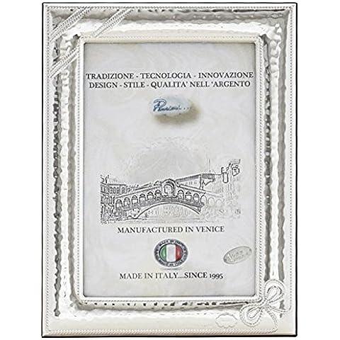 FIOCCO M Cornice per Foto 9x13cm Portafoto Argento Artigianale Made in Italy