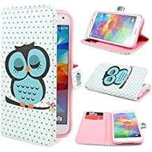 Funda Flip Case Cover Premium Standing Leather Funda Para Samsung Galaxy S5 i9600 B25