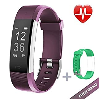 KG Physio   Premium Fitness Watch   Bluetooth Heart Rate Monitor, Pedometer, Sleep Tracker and Exercise Tracker   IP67 Waterproof Rated for Android & IOS