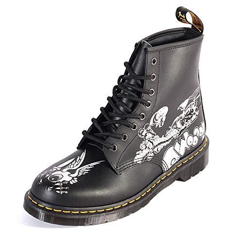 Martens 8 Eyelet (Dr. Martens Mens 1460 RG BW Black & White Rick Griffin Backhand 8 Eyelet Boots-UK 9 (EU 43))