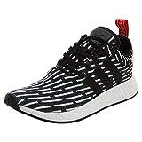 adidas Originals NMD R2 Primeknit PK Core Black White Zebra Men US Size 9.5
