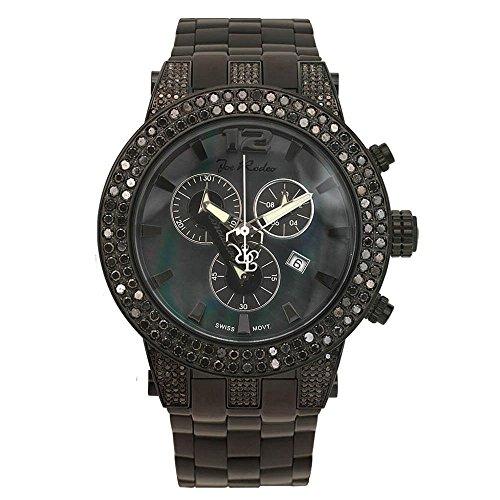 Joe Rodeo Diamond Men's Watch - BROADWAY black 6.5 ctw